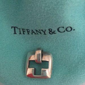 Tiffany & Co. Silver Stencil Cross Pendant
